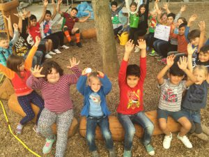 Das grüne Klassenzimmer bietet künftig Gelegenheit zum Unterricht im Freien.